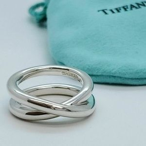 Tiffany & Co. Sterling Crossover Le Circle Ring